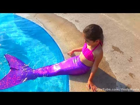 YESLY SIRENA | NADANDO EN LA PISCINA | ALBERCA | MERMAID TAIL | SWIMMING IN THE POOL