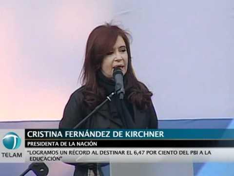 Para Cristina, el mejor homenaje a las víctimas de La Noche de los Lápices es el presupuesto en Educación