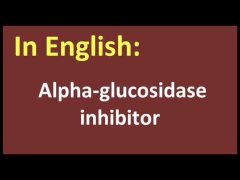 Alpha glucosidase inhibitor arabic MEANING