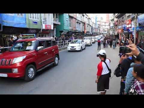 PRESIDENT OF INDIA | MOTORCADE | Aizawl, Mizoram