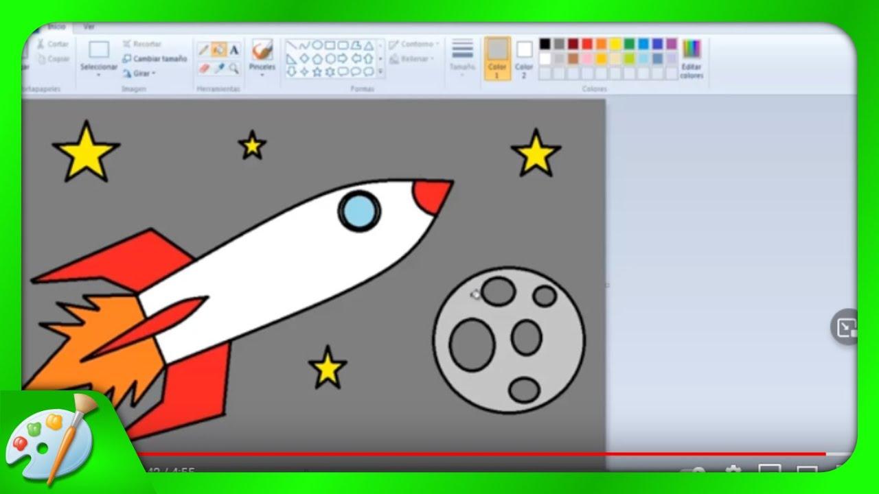 Dibujos Para Aprender A Colorear: Dibujos Para Niños: Cómo Aprender A Dibujar Un Cohete