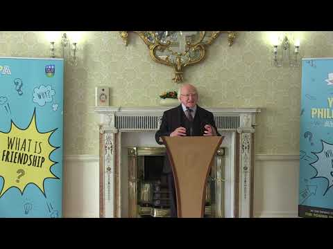Speech by President Higgins at a Reception to launch Irish Young Philosopher Awards