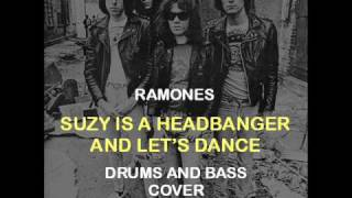 Ramones - Suzy Is A Headbanger And Let's Dance (Drums And Bass Backing Track Cover)