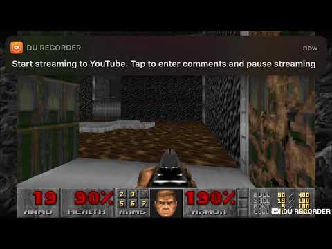 DooM II livestream with PS4 Controller on iOS 13
