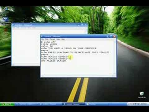 How to make a fake virus on Notepad