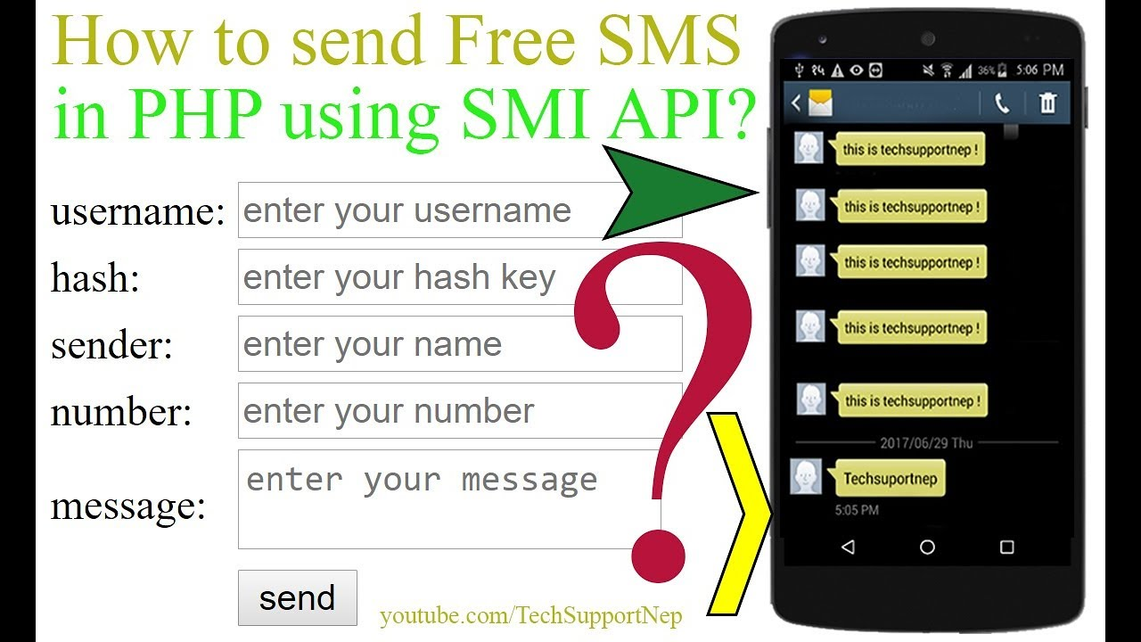 How to Send Free SMS Using SMS API in PHP?[With Source Code]