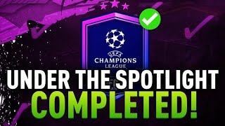 Under The Spotlight SBC Completed - No UCL Player Links - Fifa 20
