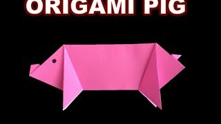 Easy Origami PIG ----- Difficulty: ★ ☆ ☆ ☆ ☆ (Basic)