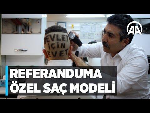 Referanduma özel saç modeli