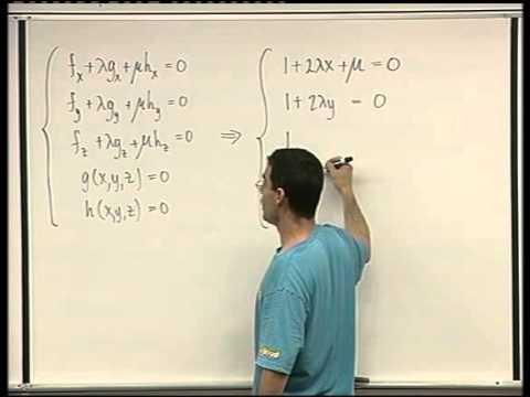 55 - Lagrange multipliers for several constraints
