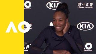 Venus Williams press conference (2R)   Australian Open 2019