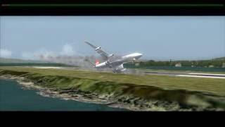 TURKISH A340 Engine Fire Crash at Gibraltar