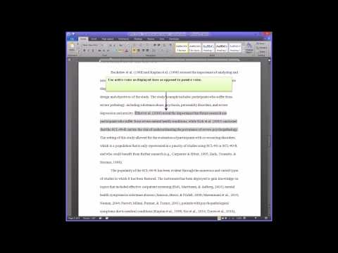 APA Style - Grammar and Usage