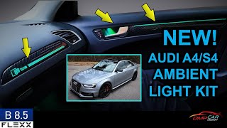 NEW Carbon Fiber Ambient Light Kit   How to install on 2008-2016 Audi A4/S4 (B8 and B8.5)