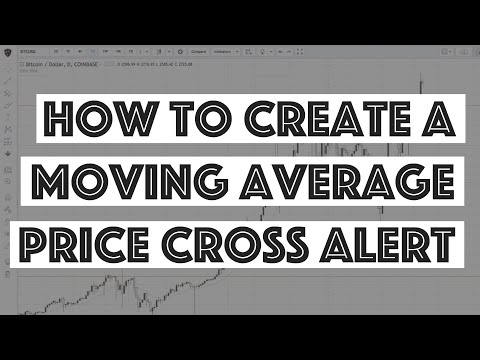How to Create a Moving Average Crossover Alert - TradingView