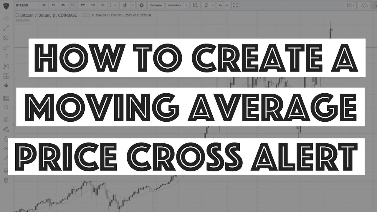 How To Create A Moving Average Crossover Alert Tradingview