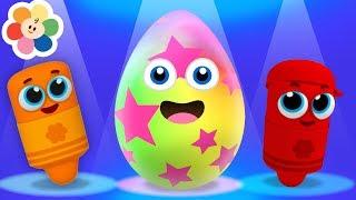 Colores en Español para Niños con Huevos Sorpresa | Huevo Sorpresa Canciones para Niños | BabyFirst