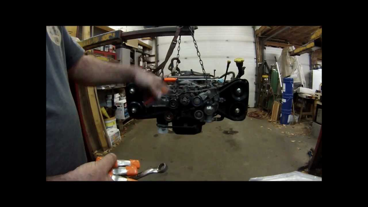 medium resolution of subaru 2 5 twin cam timing belt install