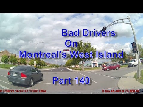 Bad Drivers on Montreal's West Island Part 140
