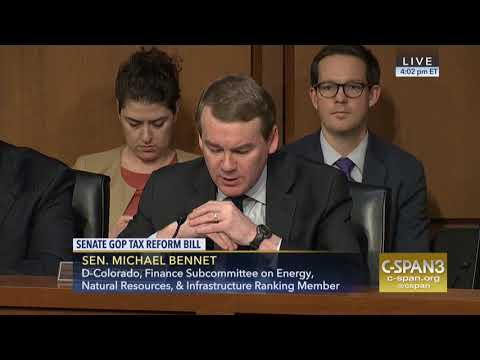Sen. Michael Bennet Opening Remarks at Senate Finance Markup on Republican Tax Plan