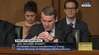 Sen. Michael Bennet Opening Remarks at Senate Finance Markup on Republican Tax Plan