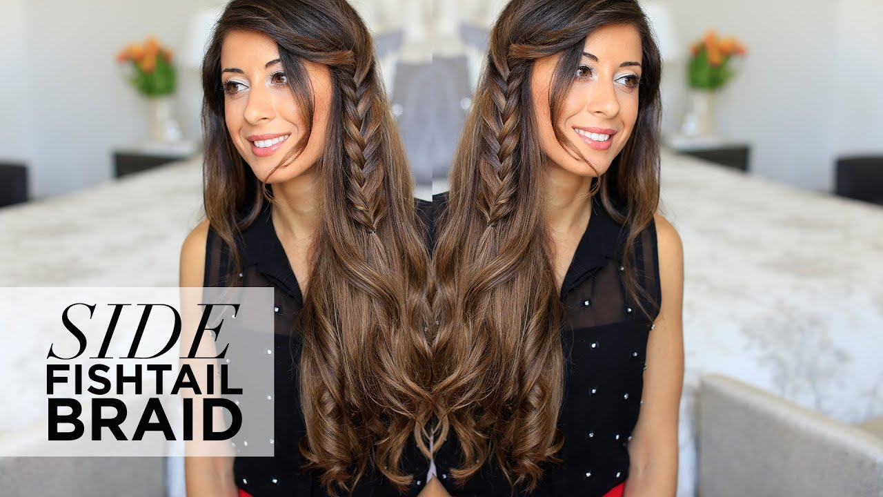 how to style your hair for a side fishtail braid hairstyle 6065