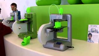Cubify's 3D printers in action at Google I/O 2012