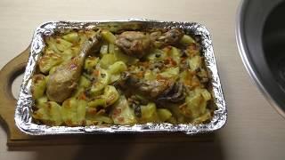 видео Картошка с овощами в духовке