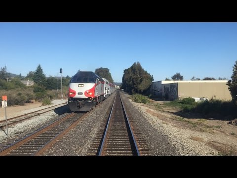 Caltrain HD 60fps: Gallery Car 4022 Cab Ride on Baby Bullet Train 329 (Tamien - San Francisco)