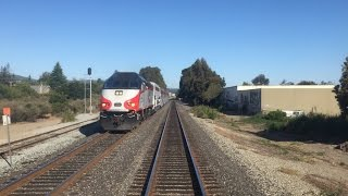 Caltrain HD 60 FPS: Gallery Car 4022 Cab Ride on Baby Bullet Train 329 (Tamien - San Francisco)