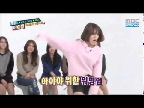K-Pop Girl Groups dancing Boy Groups (Part 1/2)