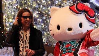 X JAPAN、 YOSHIKIがゴンドラで登場!キティとパレード! ハローキティ誕生40周年記念パレード「ARIGATO EVERYONE!」1