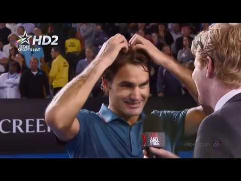 Federer & Courier Funny Interview Moments Compilation 2007-2017