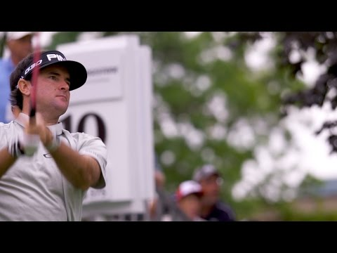 Bubba Watson's pre-round warm-up routine