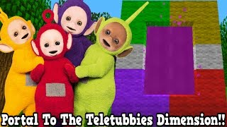 Minecraft How To Make A Portal To The Teletubbies Dimension - Teletubbies Dimension Showcase!!!