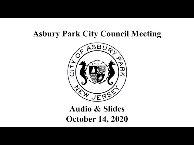 Asbury Park City Council Meeting - October 14, 2020