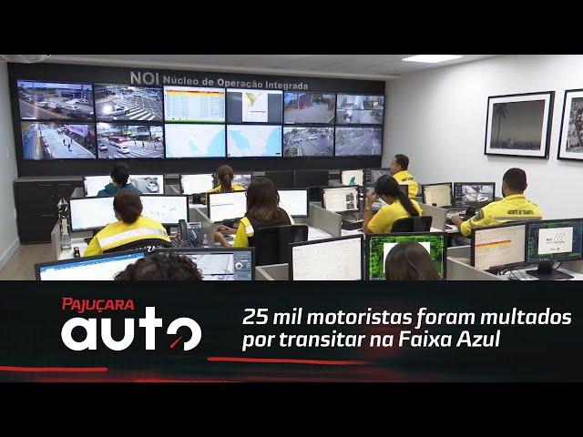 Cerca de 25 mil motoristas foram multados por transitar na Faixa Azul, em Maceió