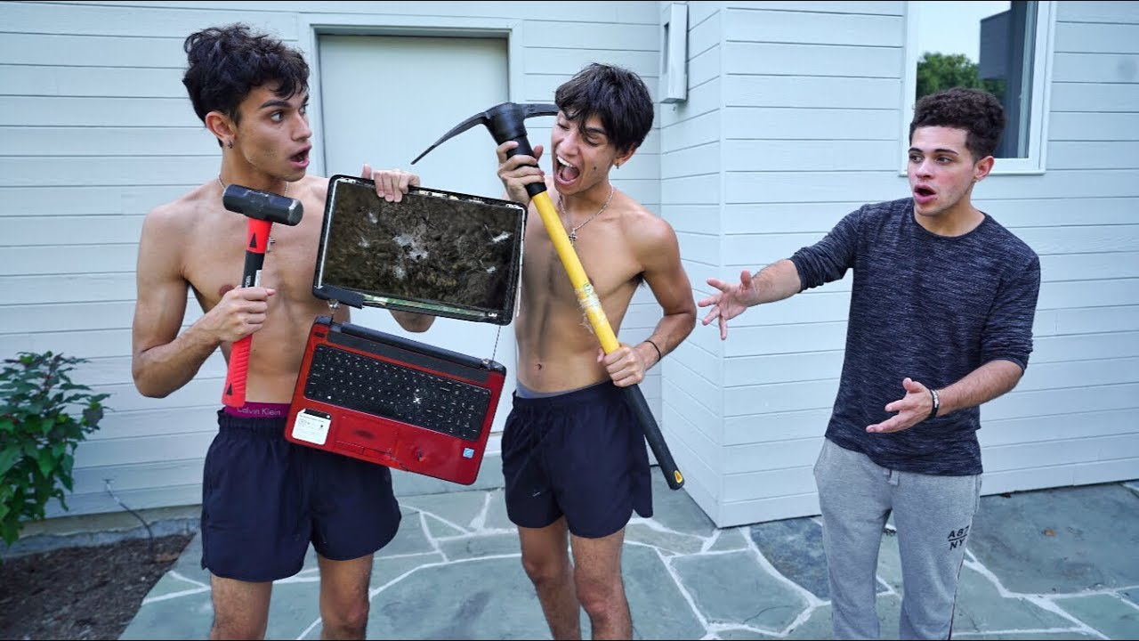destroying-our-friend-s-computer-and-surprising-him-with-a-new-one-he-cried