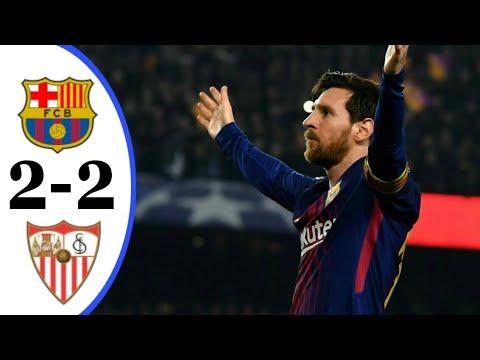 FC Barcelona Vs Sevilla 2-2 Full Highlights   HD 31/03/18
