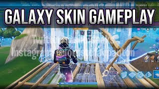 *NEW* Leaked 'GALAXY' Skin GAMEPLAY! (Hacked into Fortnite)