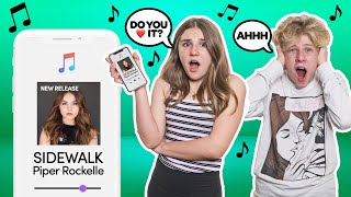 My Crush REACTS to my NEW Song **LIVE Music Performance**🎤💕| Piper Rockelle