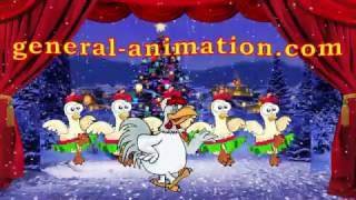 Chiсkens Merry Christmas Dance - General-Animation.com