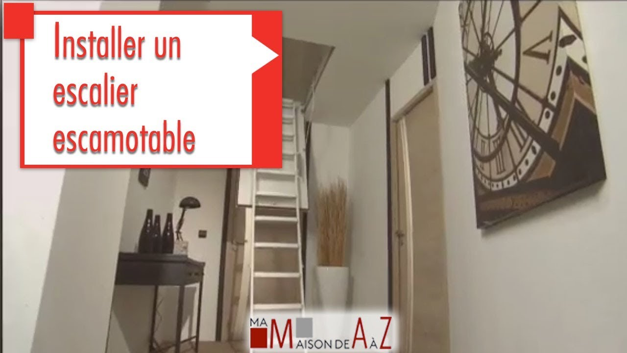installer un escalier escamotable gedimat ma maison de a z youtube. Black Bedroom Furniture Sets. Home Design Ideas