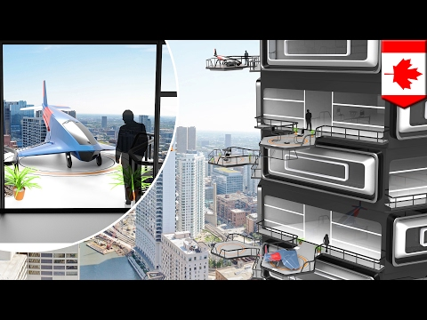 Personal flying car: Future apartments could have landing spaces for flying vehicles - TomoNews
