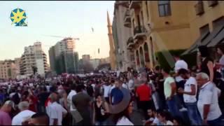 """بالفيديو :  عشرات الآلاف من اللبنانيين يحتشدون في ساحة الشهداء للمطالبة بالإصلاح"""""""