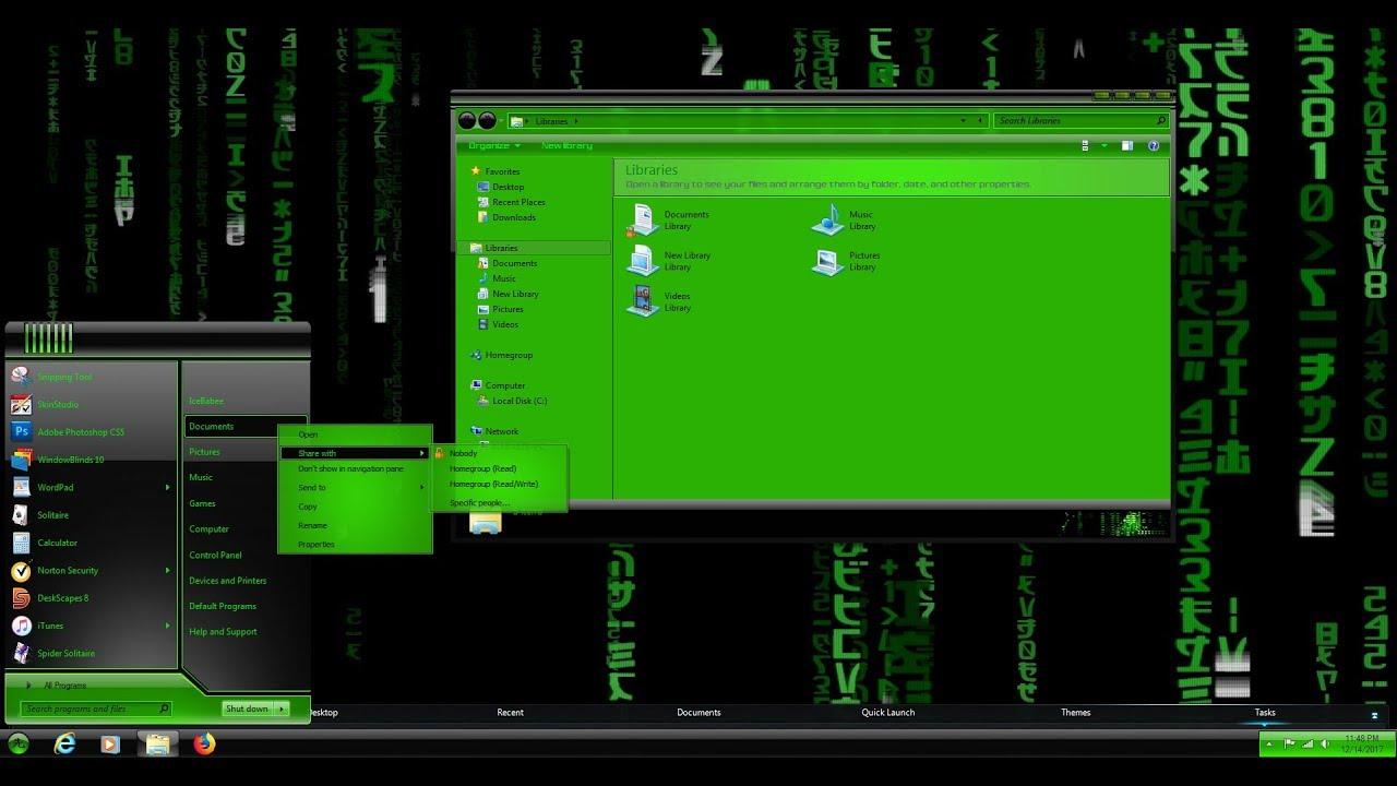 Windows 10 theme glass blue BLADE by PoweredByOstX