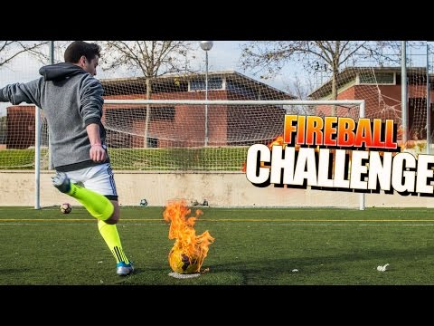 FIREBALL CHALLENGE WITH YOUTUBERS!! EXTREM SOCCER CHALLENGE [bytarifa]