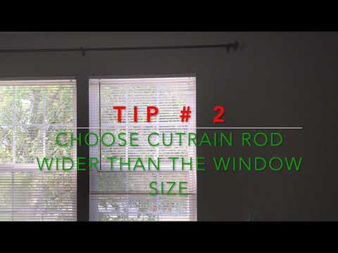 How to make small windows and room look bigger by hanging curtains/ interior decorate