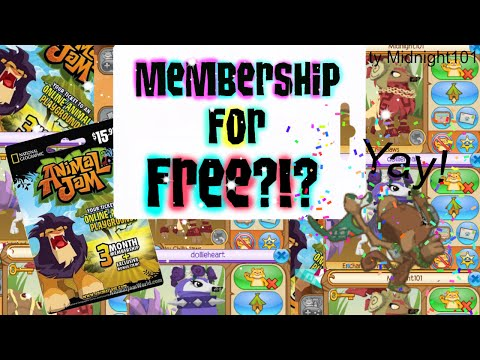 how to get free membership on animal jam that works