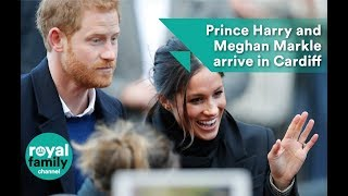 Prince Harry and Meghan delight fans outside Cardiff Castle